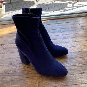 Steve Madden blue suede elory booties